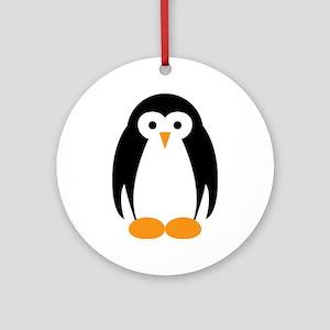 Cute Penguin Illustration Ornament (Round)