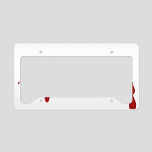Chemical Engineer Zombie License Plate Holder