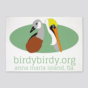 birdybirdy.org on ami logo 5'x7'Area Rug