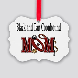 Black and Tan Coonhound Mom Picture Ornament