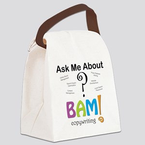 Ask Me About Copywriting Canvas Lunch Bag