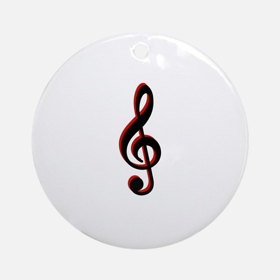 Music Note Round Ornament