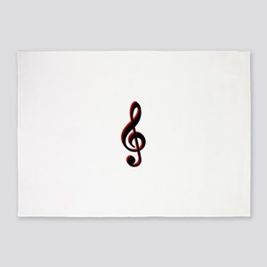 Music Note 5'x7'Area Rug
