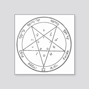 "Solomon Pentacle Square Sticker 3"" x 3"""
