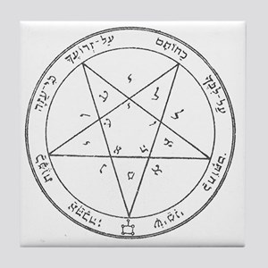 Solomon Pentacle Tile Coaster