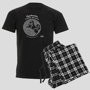 Eyjahunda Logo Black Backgroun Men's Dark Pajamas