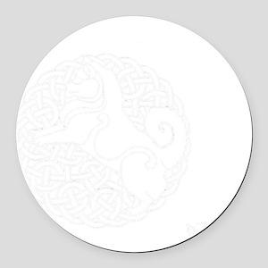 Eyjahunda Logo Black Background Round Car Magnet