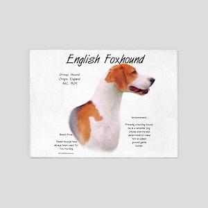 English Foxhound 5'x7'Area Rug