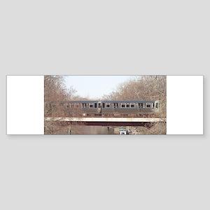 Brown Line over the North Branch Ri Bumper Sticker