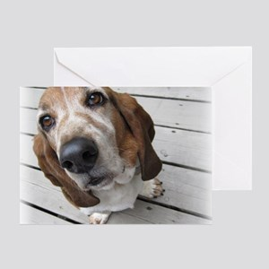 Basset Love Greeting Card
