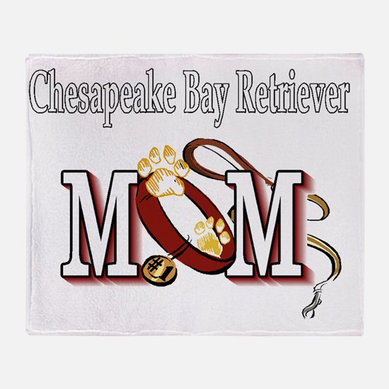 Chesapeake Bay Retriever Mom Throw Blanket