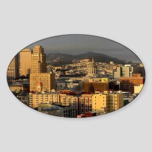 San Francisco Skyline Sticker (Oval)