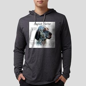 English Setter Mens Hooded Shirt