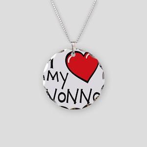 I Love My Nonno Necklace Circle Charm