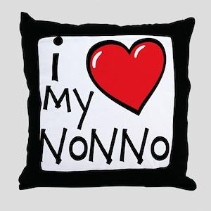 I Love My Nonno Throw Pillow