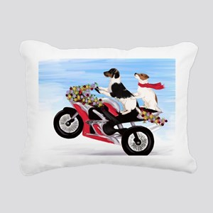 Jack Russell Terriers on Rectangular Canvas Pillow