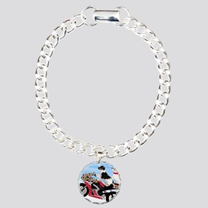 Jack Russell Terriers on Charm Bracelet, One Charm