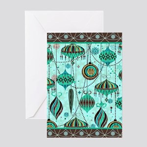 Green Tint Ornaments Greeting Card