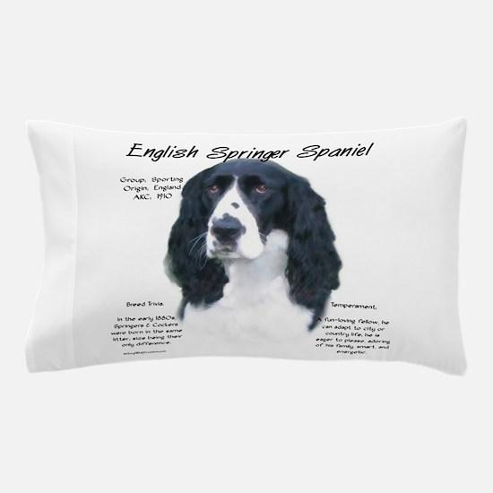 English Springer (black) Pillow Case