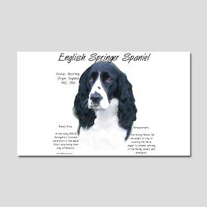 English Springer (black) Car Magnet 20 x 12