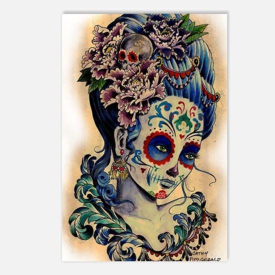 Marie Muertos shower curt Postcards (Package of 8)