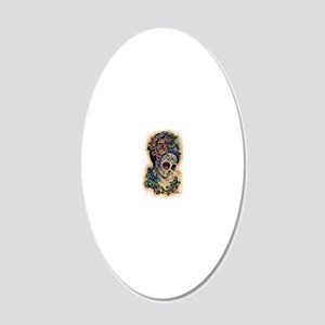 Marie Muertos shower curtain 20x12 Oval Wall Decal