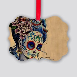 Marie Muertos laptop skin Picture Ornament