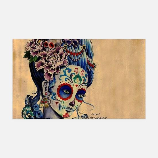 Marie Muertos laptop skin Wall Sticker