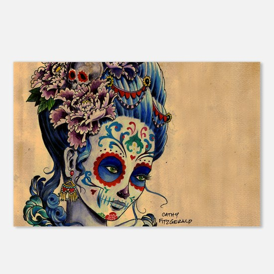 Marie Muertos laptop skin Postcards (Package of 8)