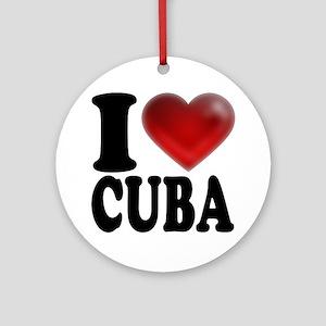 I Heart Cuba Round Ornament