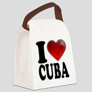 I Heart Cuba Canvas Lunch Bag
