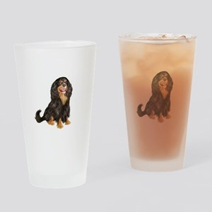 Cavalier (blk-tan) Drinking Glass