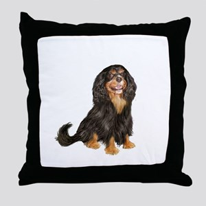 Cavalier (blk-tan) Throw Pillow