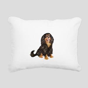 Cavalier (blk-tan) Rectangular Canvas Pillow