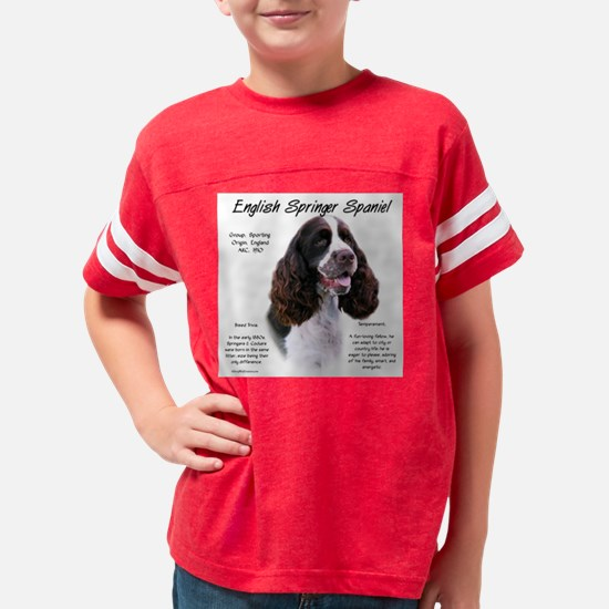 English Springer (liver) Youth Football Shirt