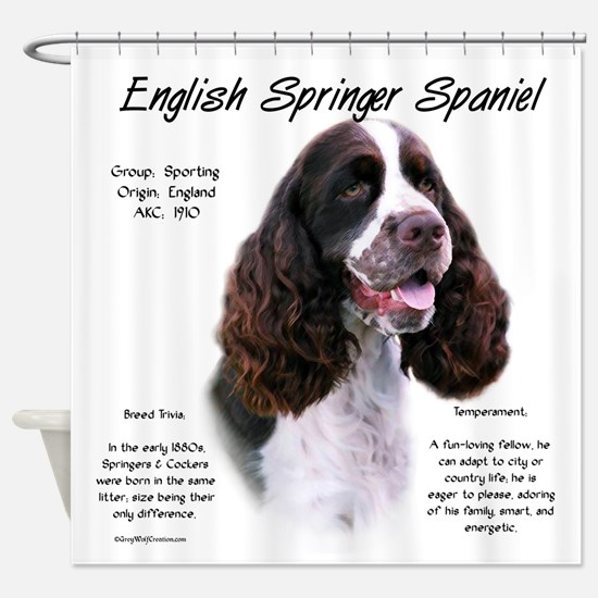 English Springer (liver) Shower Curtain