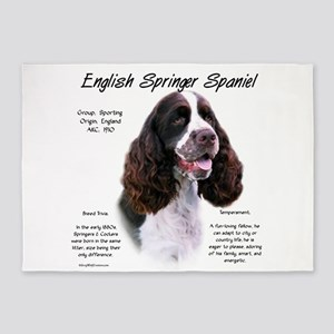 English Springer (liver) 5'x7'Area Rug