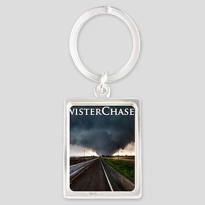 TwisterChasers Tornado Portrait Keychain