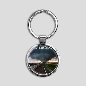 TwisterChasers Tornado Round Keychain