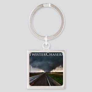 TwisterChasers Tornado Square Keychain