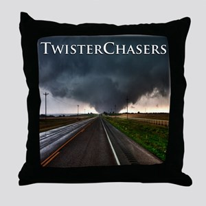 TwisterChasers Tornado Throw Pillow
