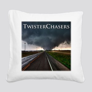 TwisterChasers Tornado Square Canvas Pillow