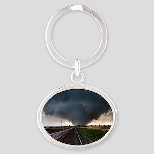 TwisterChasers Tornado Oval Keychain