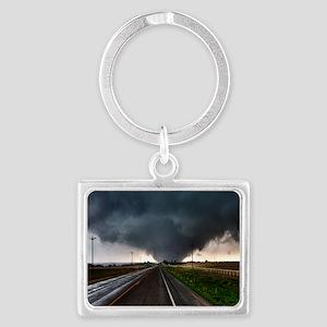 TwisterChasers Tornado Landscape Keychain