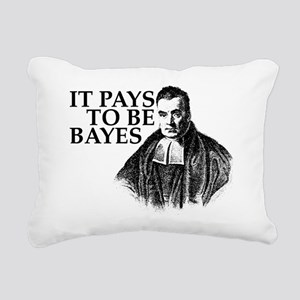 It pays to be Bayes. Rectangular Canvas Pillow
