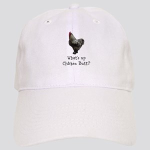 Whats Up Chicken Butt Baseball Cap
