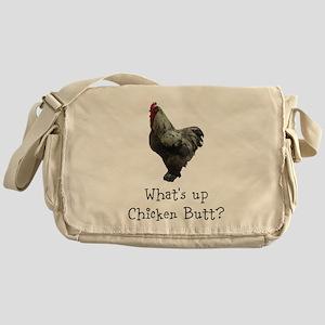 Whats Up Chicken Butt Messenger Bag
