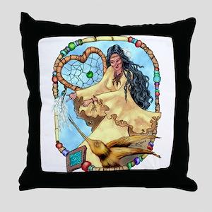Hummingbird Dreamcatcher Throw Pillow