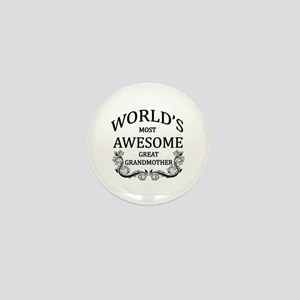 World's Most Awesome Great Grandmother Mini Button