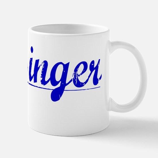Messinger, Blue, Aged Mug